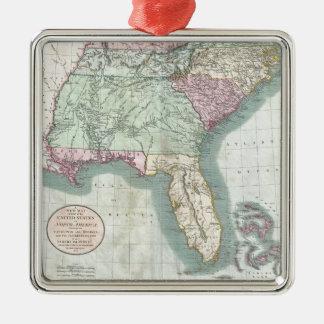南東米国(1806年)のヴィンテージの地図 メタルオーナメント