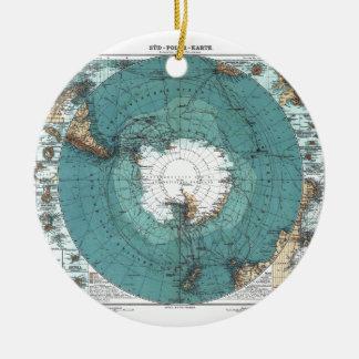 南極の地図 セラミックオーナメント