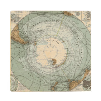 南極圏の地図 ウッドコースター