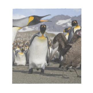 南極大陸のジョージアの南島(イギリス)、ブラウン ノートパッド