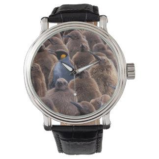 南極大陸のジョージアの南島、キングペンギン 腕時計
