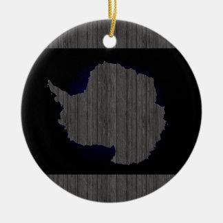 南極大陸のモノクロ旗 セラミックオーナメント