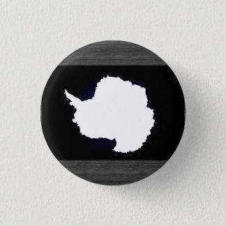 南極大陸のモノクロ旗 缶バッジ