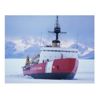 南極大陸のロスの島、McMurdoの場所、USCG ポストカード