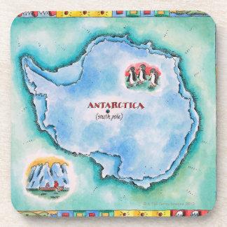 南極大陸の地図 コースター