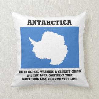 南極大陸の地球温暖化の気候変動大陸 クッション