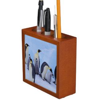 南極大陸のEmporerのペンギン((コウテイペンギン属 ペンスタンド