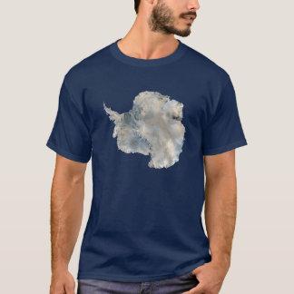 南極大陸衛星写真科学旅行イメージ Tシャツ