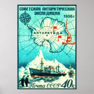 南極大陸1956年 ポスター