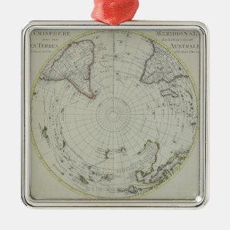 南極大陸2の地図 メタルオーナメント