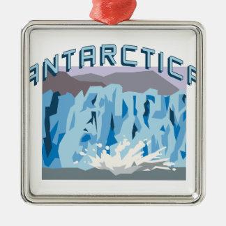 南極大陸 メタルオーナメント
