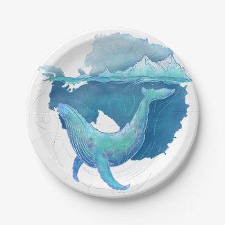 南極海のクジラの聖域 ペーパープレート