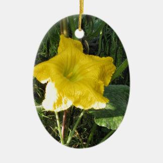 南瓜の花の写真 セラミックオーナメント