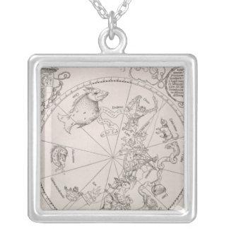 南空の地図 シルバープレートネックレス