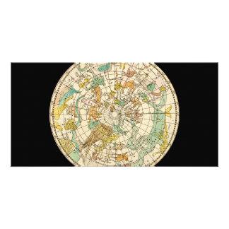南空の星図および星座の地図 カード