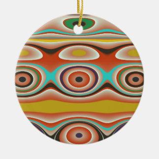 南西の楕円形および円パターンデザイン セラミックオーナメント