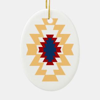 南西アステカなネイティブアメリカンの種族のデザイン セラミックオーナメント