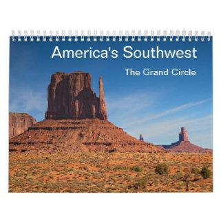 南西アメリカ-壮大な円のカレンダー カレンダー