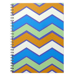 南西デザイナー皇族のジグザグ形 ノートブック