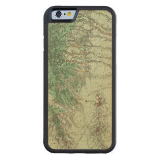 南西ニューメキシコの土地分類の地図 CarvedメープルiPhone 6バンパーケース