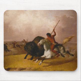 南西平野のバッファローの狩り- 1845年 マウスパッド