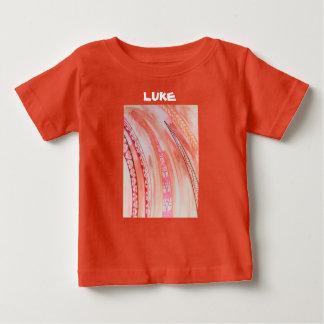 南西感じの抽象的な混合メディア ベビーTシャツ