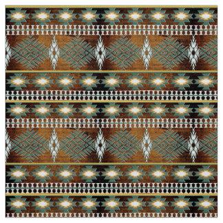 南西民族のナバホー人パターン ファブリック
