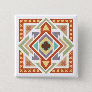 南西民族の種族パターン 5.1CM 正方形バッジ