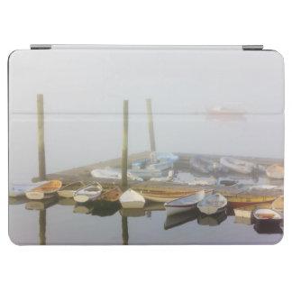 南西港のスキフそして朝の霧、 iPad AIR カバー