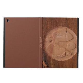 南西石のブラウンの背部の天使フォリオ iPad AIRケース