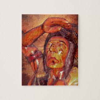 南西種族の原産のアメリカインディアンの責任者 ジグソーパズル
