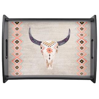 南西種族の雄牛のスカル トレー