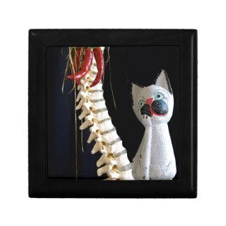 南西脊柱の骨組チリペッパー猫 ギフトボックス