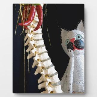 南西脊柱の骨組チリペッパー猫 フォトプラーク