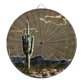 南西芸術の砂漠の水気が多いサグアロのサボテン ダーツボード