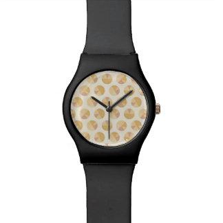 南西Geoのステップ|オレンジ円パターン 腕時計