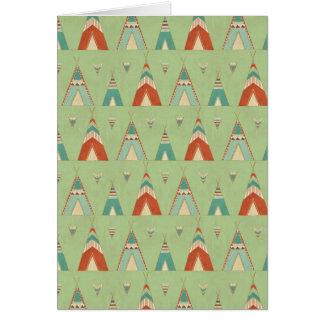 南西Geoのステップ|緑のテント小屋パターン カード