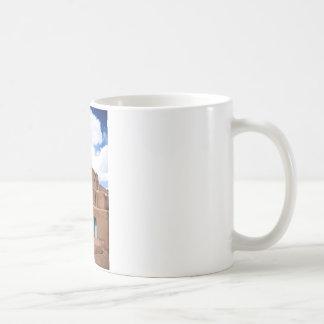 南西Taos Adobeの村落の家ニューメキシコ コーヒーマグカップ
