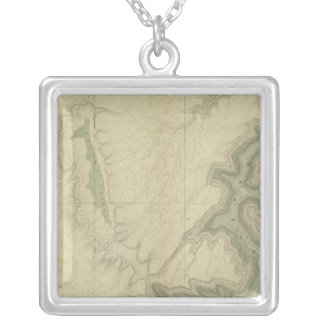 南3の地質地図 シルバープレートネックレス