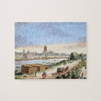 南(プリントに直面するブランクフルトの町の眺め ジグソーパズル