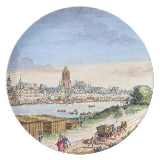 南(プリントに直面するブランクフルトの町の眺め プレート