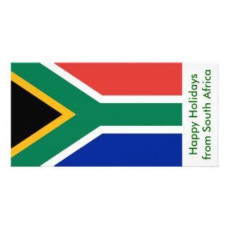南Afric、アフリカからの幸せな休日の旗 カード