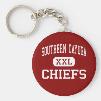 南Cayuga -責任者-高ポプラリッジ ベーシック丸型缶キーホルダー