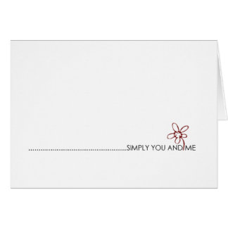 単にあなたおよび私愛ノート カード