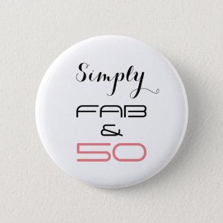 単にすてき及び50 -ボタン 5.7CM 丸型バッジ