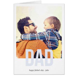 単にはっきりしたな父の日の挨拶状 グリーティングカード