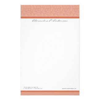 単にエレガントでカスタムなデザイナー珊瑚の文房具 便箋