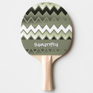 -単にオリーブ色はジグザグに進みます 卓球ラケット