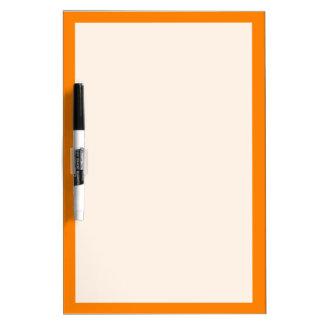 単にオレンジ無地 ホワイトボード