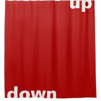 """単にデザイン""""長方形赤の下の"""" + あなたのアイディア シャワーカーテン"""